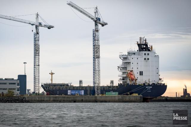 Le porte-conteneursMS Asterixsera transformé auchantier naval de Lévis.... (Fournie par Chantier Davie Canada)