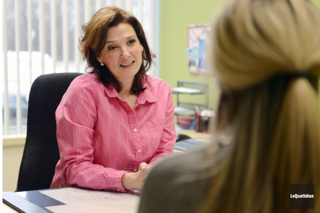 Mélissa Lavoie, professeure en sciences infirmières à l'Université... (Photo Le Quotidien, Jeannot Lévesque)