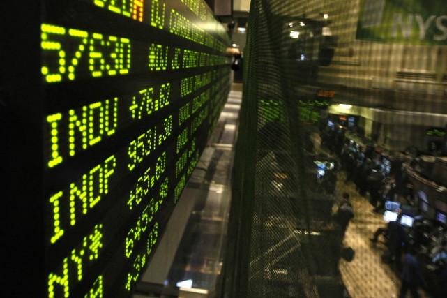 La Bourse de Toronto a clôturé en hausse... (Bloomberg)