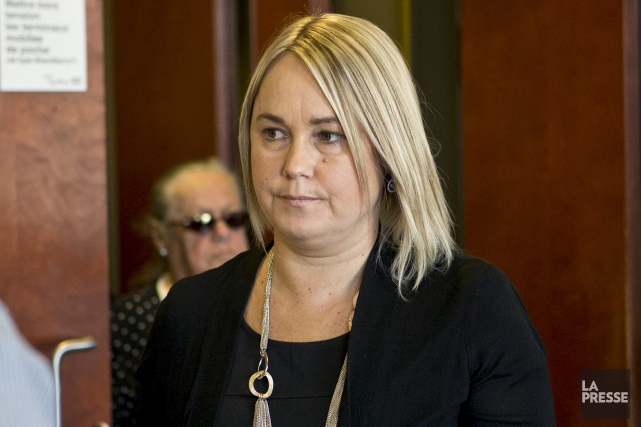 La mère des deux victimes, Isabelle Gaston, au... (La Presse, Patrick Sanfaçon)