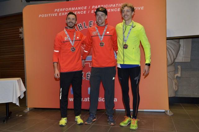 Alex Genest (à gauche) a savouré une deuxième... (Athlétisme Canada)