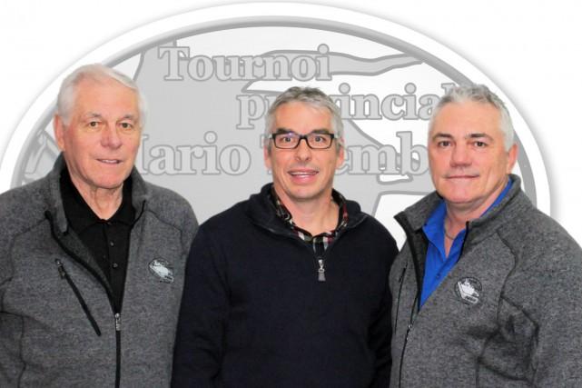 Marcel Maltais, coordonnateur du tournoi, Sabin Larouche, président... (Photo courtoisie)