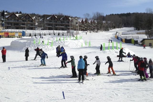 L'hiver dernier, à la station de Ski Bromont,... (PHOTO FOURNIE PAR SKI BROMONT)