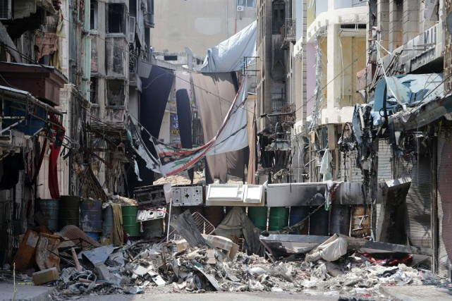 Un quartier de la Vieille ville de Homs,... (PHOTO JOSEPH EID, ARCHIVES AFP)