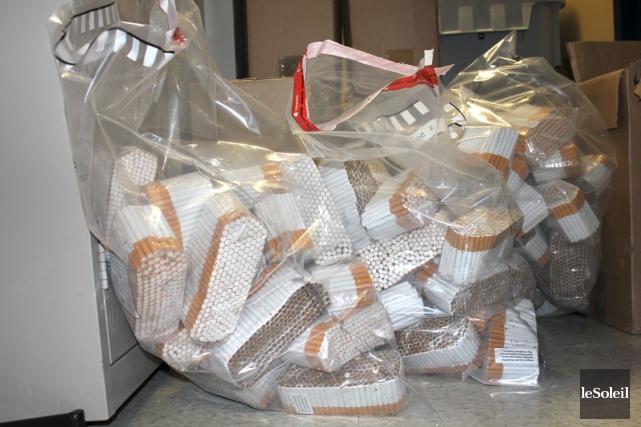 La Sûreté du Québec (SQ) a démantelé un réseau de distribution de tabac de... (PHOTO ARCHIVES, LE SOLEIL)