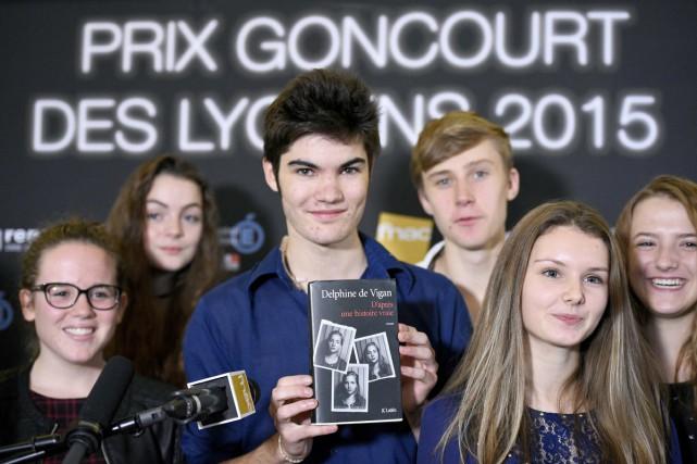 Le président du jury des lycéens, Corto Courtois,... (PHOTO AFP)