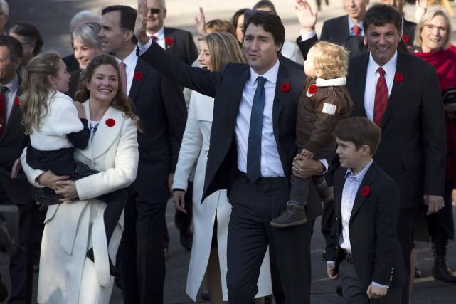 M. Trudeau et sa femme Sophie ont trois... (PHOTO ARCHIVES LA PRESSE CANADIENNE)