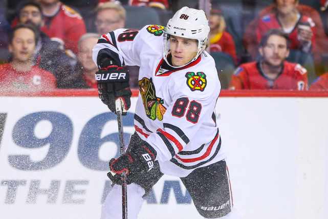 Patrick Kane a récolté 23 points en 13 matchs... (Photo Sergei Belski, USA Today)