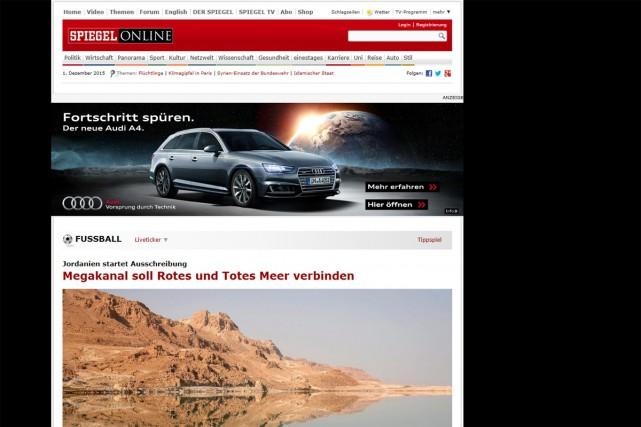 Le groupe Der Spiegel, dont dépend l'hebdomadaire allemand du même nom, va... (CAPTURE D'ÉCRAN)