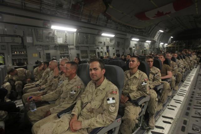 Les militaires canadiens avaient joué un rôle majeur... (ARCHIVES AP)