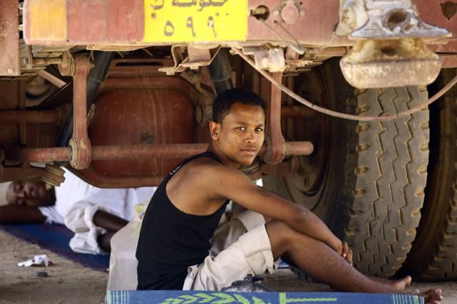 Un réfugié érythréen dans l'est du Soudan, en... (PHOTO AFP)