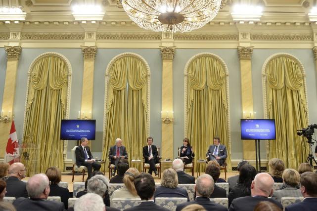 Lors d'un forum sur l'accueil des réfugiés, organisé... (La Presse Canadienne)