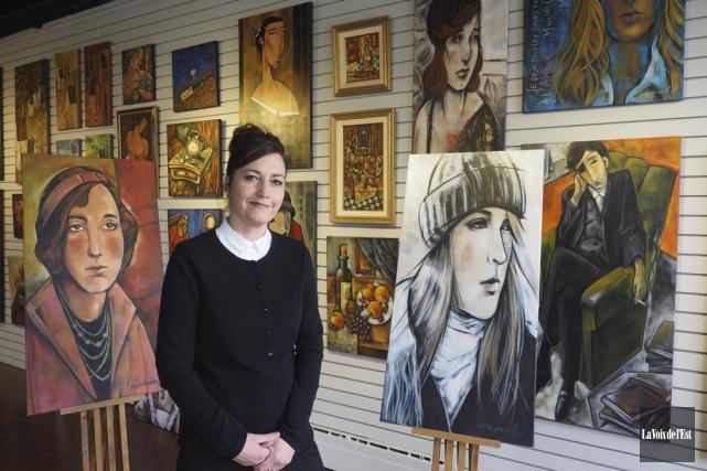Lyse-Anne Roy exposera une quarantaine de ses oeuvres... (Alain Dion, La Voix de l'Est)