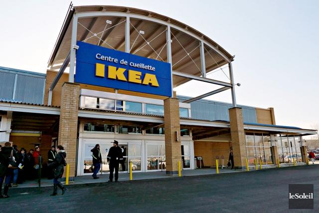 Le nouveau centre de cueillette IKEA à Québec... (Le Soleil, Frédéric Matte)