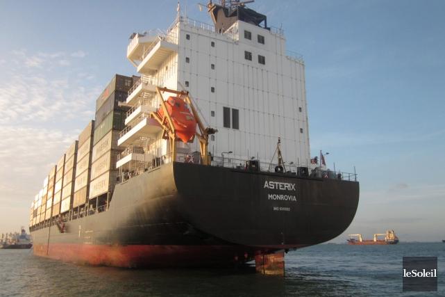 LeMS Asterix, porte-conteneurs construit en Allemagne, sera converti... (Photothèque Le Soleil)