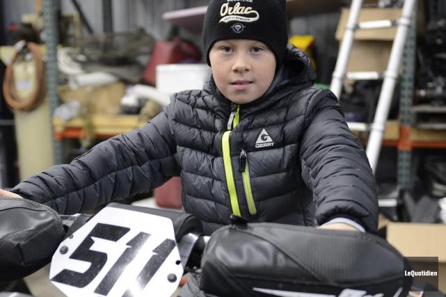 Âgé de 11 ans, Jordan Lebel a pris... (Archives Le Quotidien, Jeannot Lévesque)