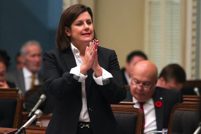 La ministre de la Justice, Stéphanie Vallée.... (PHOTO PC)