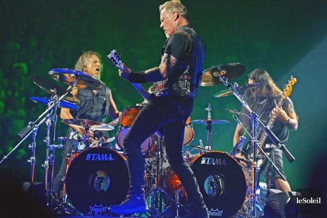 Metallicaa livré une performance endiablée pour baptiser la... (Photothèque Le Soleil, Jean-Marie Villeneuve)