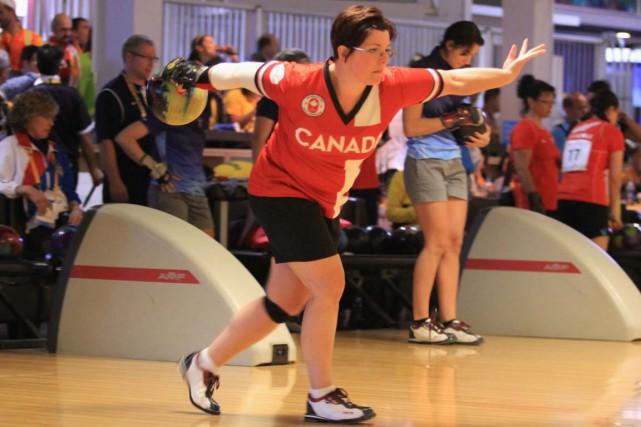 La Canadienne Isabelle Rioux en pleine action.... (Sandy Lowe)