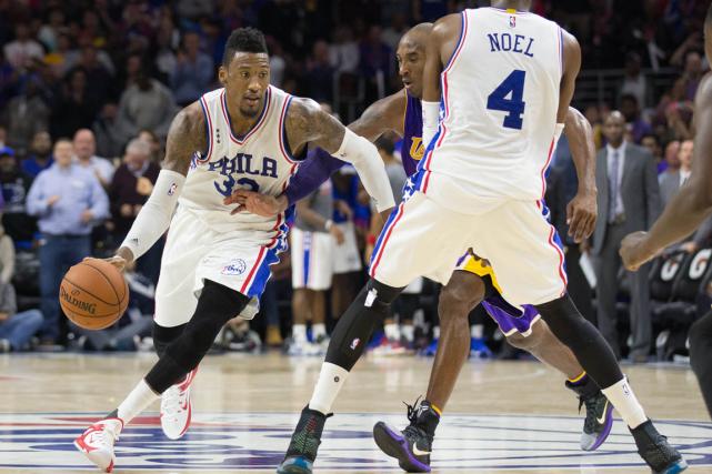 Les 76ers de Philadelphie ont défaitles Lakers de... (Photo Bill Streicher, USA Today)