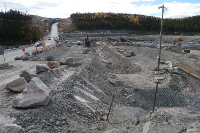 Les travaux de construction à la centrale Romaine... (Archives Hydro-Québec)