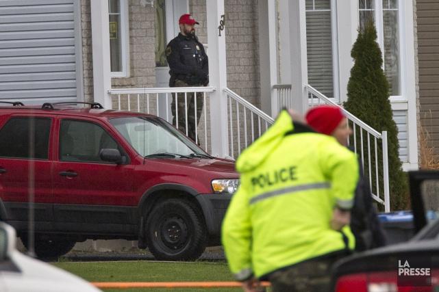 Un homme de 25 ans - en crise et muni d'une arme blanche - a été abattu chez... (PHOTO PATRICK SANFAÇON, LA PRESSE)