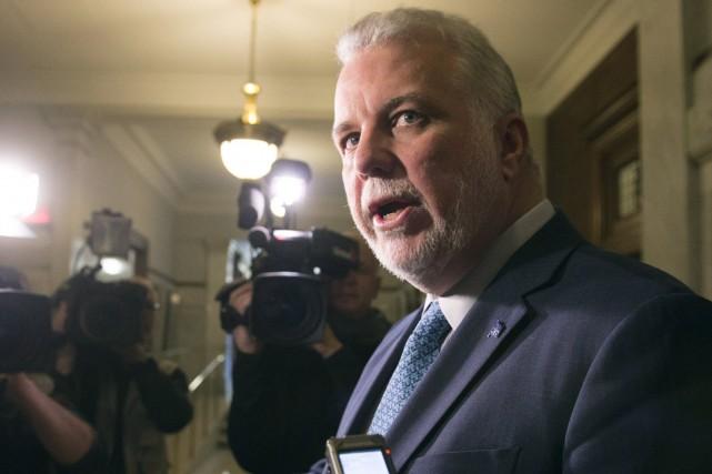 «C'est inacceptable», a déclaré Philippe Couillard alors qu'ila... (La Presse Canadienne, Jacques Boissinot)