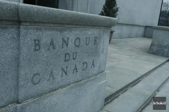 La Banque du Canada a annoncé mercredi qu'elle maintient le taux cible du... (Photothèque Le Soleil)