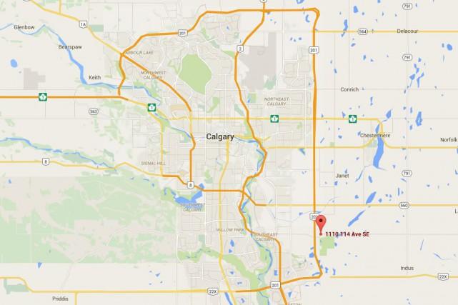 Trois personnes auraient été blessées dans une explosion qui serait survenue... (Capture d'écran Google Maps)