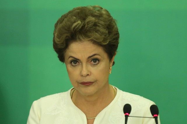 En cas de mise en accusation, Dilma Rousseff... (PHOTO AP)