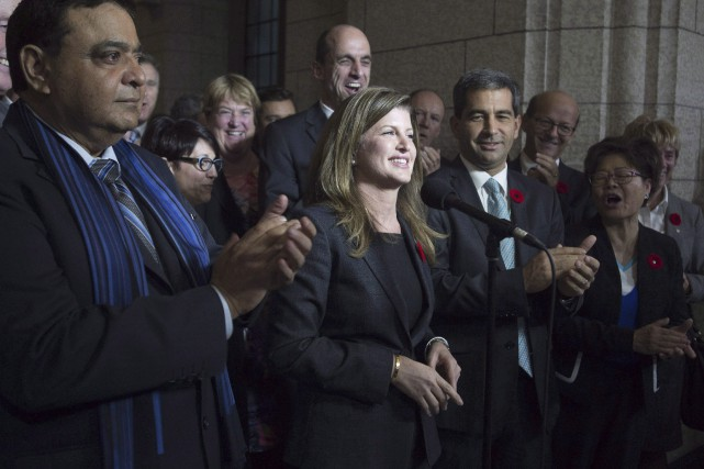 La chef intérimaire du Parti conservateur, Rona Ambrose,... (Photo archives La Presse Canadienne)