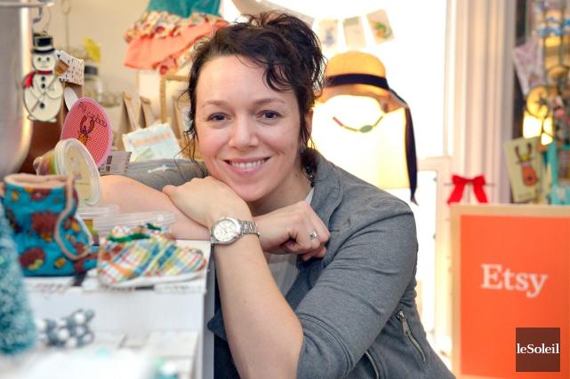 Annik-Michèle Doucet est membre d'Etsy depuis 2009. Elle... (Le Soleil, Yan Doublet)