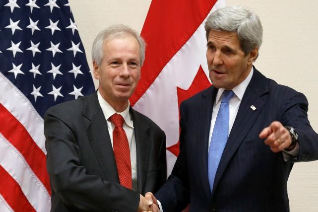 Le ministre Stéphane Dion a notamment rencontré secrétaire... (Jonathan Ernst, AFP)