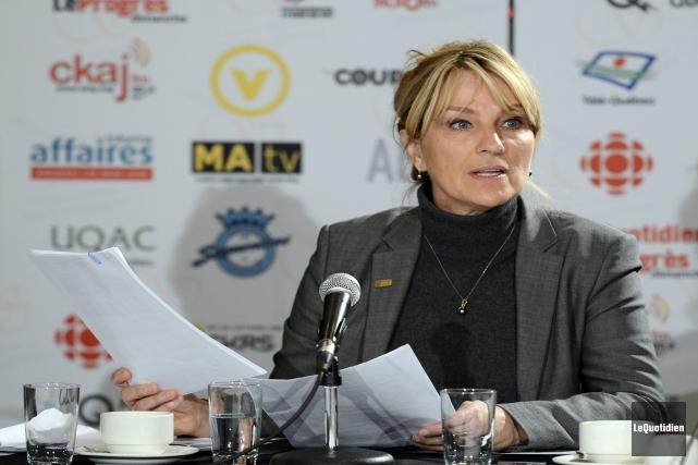 La chef de l'Équipe du renouveau démocratique, Josée... (Photo Le Quotidien, Jeannot Lévesque)