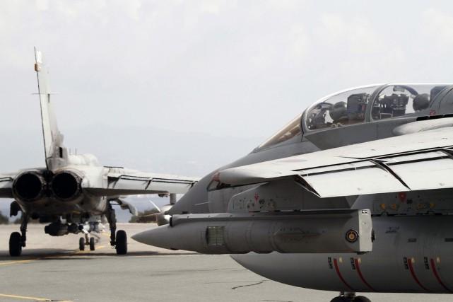 La Grande-Bretagne a conduit ses premières frappes aériennes en Syrie contre... (Photo AFP)