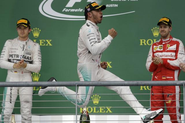 Lewis Hamilton avait remporté le GP des États-Unis... (Archives Associated Press)
