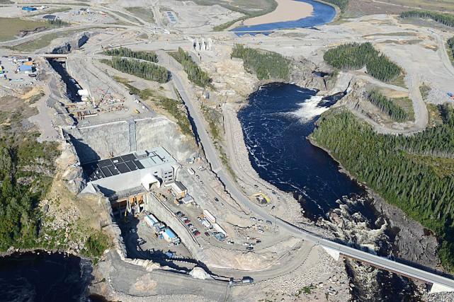 Le chantier de La Romaine... (Fournie par Hydro-Québec)