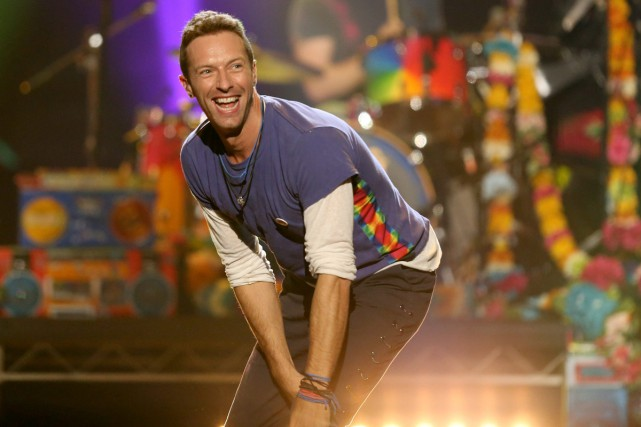 Chris Martin de Coldplay lors des American Music... (PHOTO ARCHIVES AP)