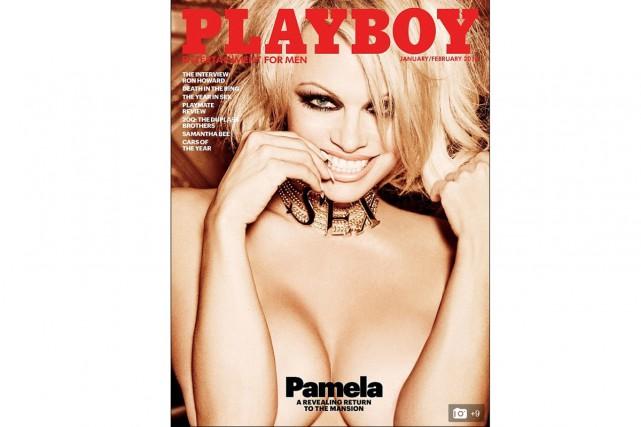 La starlette américano-canadienne Pamela Anderson est en couverture du numéro... (CAPTURE D'ÉCRAN)