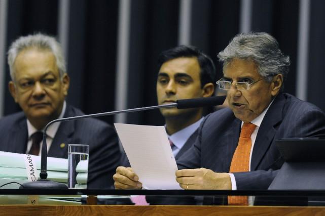 Le premier secrétaire de la chambre basse, le... (Photo ANDRESSA ANHOLETE, AFP)