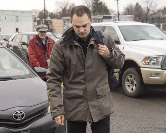 Guy Turcotte à son arrivée, jeudi.... (La Presse Canadienne)