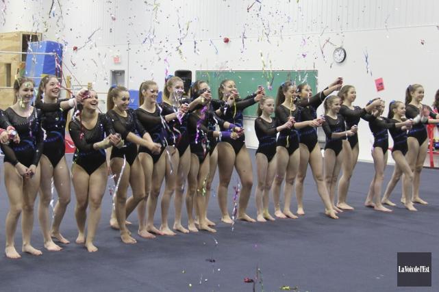 Les Hirondelles duclub de gymnastique de Granby.... (Janick Marois, Archives La Voix de l'Est)