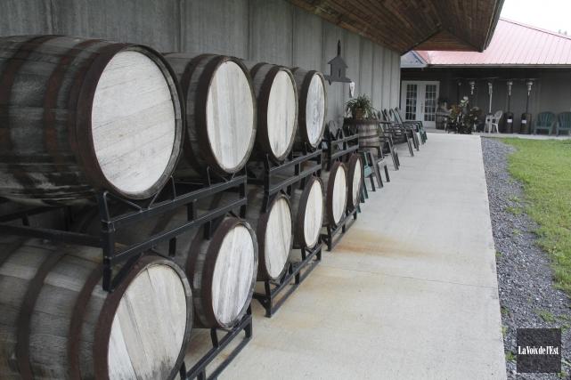 Le vignoble Lavoie, à Rougemont... (Janick Marois, Archives La Voix de l'Est)