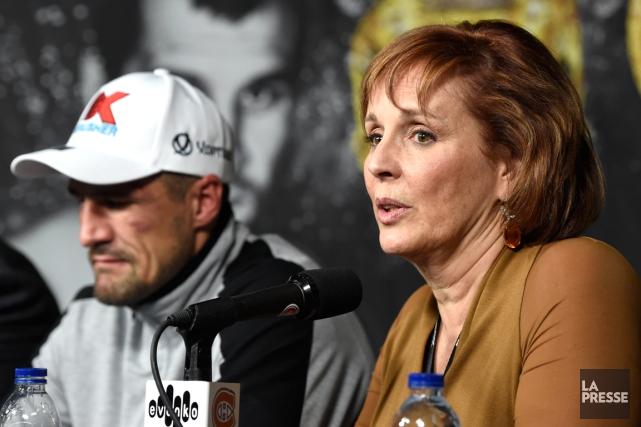 La promotrice du boxeur Sergey Kovalev, Kathy Duva,... (Photo Bernard Brault, archives La Presse)