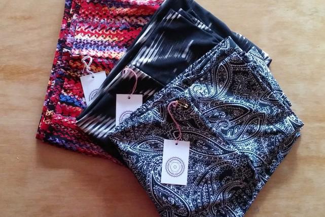 Certains des pantalons de yoga de Vêtements Mandala... (PHOTO FOURNIE PAR VÊTEMENTS MANDALA)