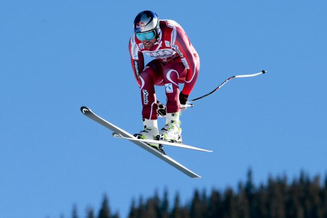 Le Norvégien Aksel Lund Svindal a remportéune troisième... (Photo Nathan Bilow, AP)