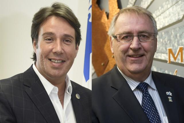 Marc H. Plante et Robert Lalonde... (François Gervais et Stéphane Lessard)