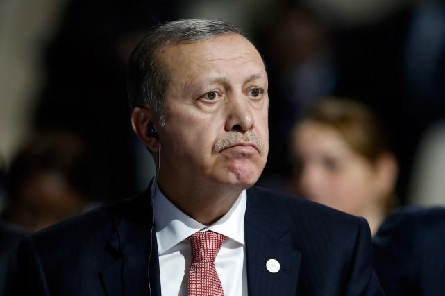 «Le président turc Recep Erdogan ne semble guère... (PHOTO FRANÇOIS MORI, ASSOCIATED PRESS)