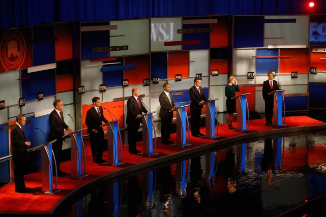 Les candidats républicains John Kasich, Jeb Bush, Marco Rubio,... (PHOTO MORRY GASH, ARCHIVES ASSOCIATED PRESS)