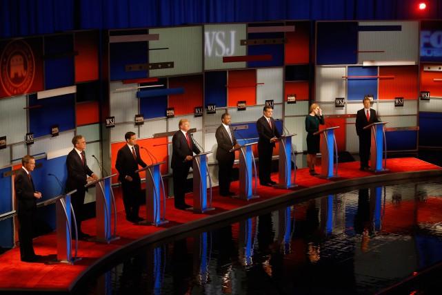 Les candidats républicainsJohn Kasich, Jeb Bush, Marco Rubio,... (Associated Press)